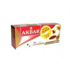 Чай Akbar Акбар  черный 25 ф/п+ложка