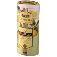 Чай Базилур 2в1 Зеленый и Цитрус 125г жесть банка
