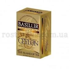 Чай Базилур Остров Цейлон черный Gold 25 пакет