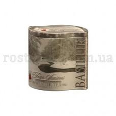 Чай Базилур Зимний черный с клюквой 125г жесть банка
