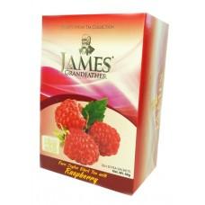 Чай Джеймс James Grandfather Raspberry 20 пакет чёрный