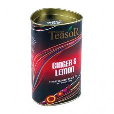 Чай TEASOR 100 ж/б Имбирь лимон чёрный