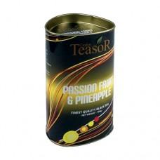 Чай TEASOR 100 ж/б Маракуя ананас чёрный