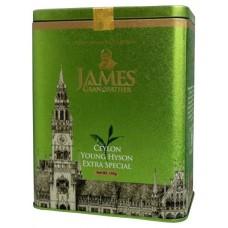Чай Джеймс James Grandfather Green GP 1 Extra Special 150г жесть банка