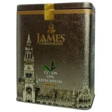 Чай Джеймс James Grandfather чёрный Extra Special OPA 150г жесть банка