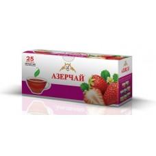 Чай Азерчай черный Клубника 25 пак