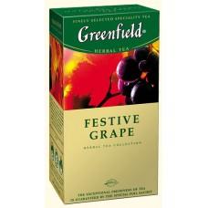Чай Гринфилд Виноград Festive Grape 25 пакетов