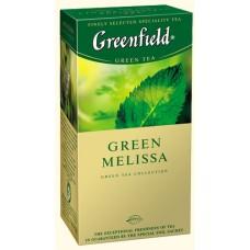Чай Гринфилд Green Melissa Зелёный мелиса 25 пакетов