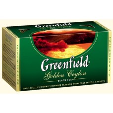 Чай Гринфилд Golden Ceylon Золотой цейлон 25 пакетов