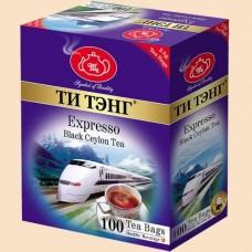 Чай Ти Тэнг Экспрессо черный 100 пак.