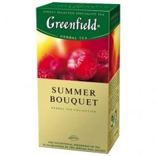 Чай Гринфилд Summer Bouquet Малина 25 пакетов