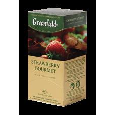 Чай Гринфилд Strawberry Gourmet  Клубника 25 пакетов