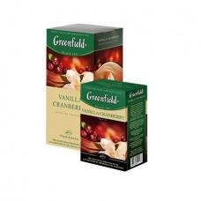 Чай Гринфилд Vanilla Cranberry Ваниль Клюква 25 пакетов