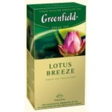 Чай Гринфилд Lotus Breeze Лотос 100 пакетов м/у