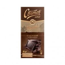 Шоколад Свиточ Авторский чёрный классик 85г