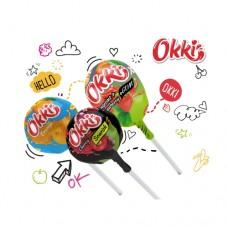 Конфеты карамель на палочке ОККИ Okki Classic mix 14,9г
