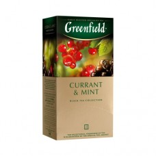 Чай Greenfield Гринфилд Смородина Currant Mint 25 сашетов