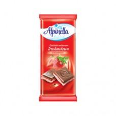 Шоколад Alpinella молочный Клубника 90г