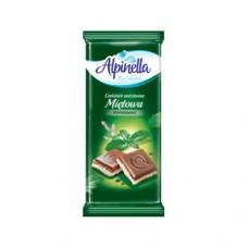 Шоколад Alpinella молочный Ментол 90г
