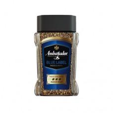 Кофе Ambassador Амбассадор Blue Label растворимый 95г стекло