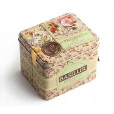 Чай Базилур Розовый подарок 100г жесть банка