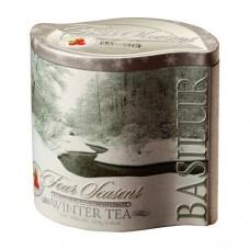 Чай черный Базилур Зимний с клюквой 125г жесть банка