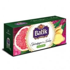 Чай Batik Батик зеленый грейпфрут имбирь 20 пакетов