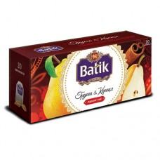 Чай Batik Батик черный груша корица 20 пакетов
