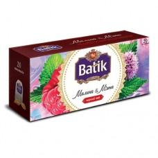 Чай Batik Батик черный малина мята 20 пакетов