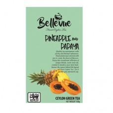 Чай Bellivue зеленый Ананас папая 100г