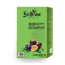 Чай Bellivue зеленый Черника маракуя 100г