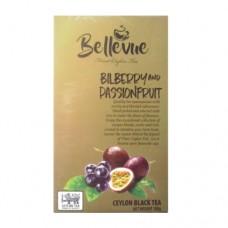 Чай Bellivue черный Черника Маракуйя 100г