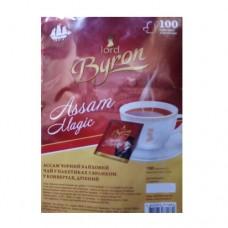 Чай Lord Byron Лорд Байрон черный Ассам 100 пакетов