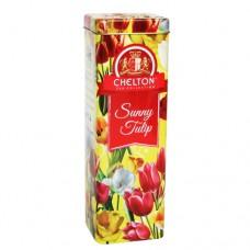 Чай Chelton Челтон Солнечный тюльпан черный 80г жесть банка
