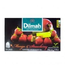Чай Dilmah Дилмах черный Манго Клубника 20 пакетов