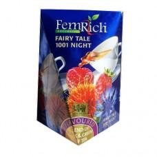 Чай FemRich Фемрич черный+зеленый Казка 1001 ночь 100г