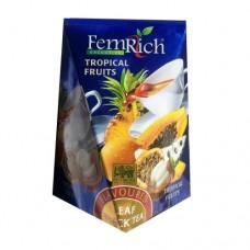 Чай FemRich Фемрич черный Тропические фрукты 100г