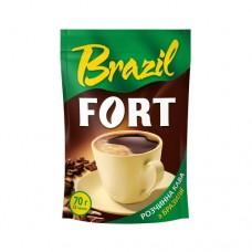 Кофе Fort Форт растворимый Бразилия 70г пакет