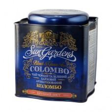 Чай зеленый+черный Sun Gardens Сан Гарденс Коломбо 200г жесть банка