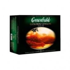 Чай Greenfield Гринфилд Golden Ceylon Золотой цейлон 50 сашетов