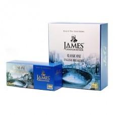 Чай James Grandfather Джеймс черный English Breakfast 25 пакет