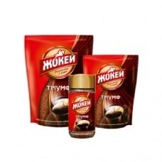 Кофе растворимый Жокей Триумф 130г пакет