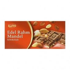 Шоколад Карина Karina Edel Rrahm Mandel молочный 200г