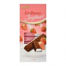 Шоколад Карина Karina Erdbeer Joghurt STRAWBERRY молочный 200г