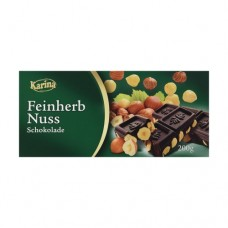Шоколад Карина Karina Feinherb Nuss DARK черный 200г