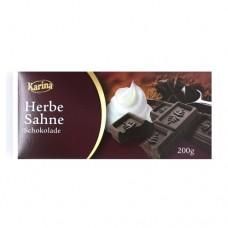 Шоколад Карина Karina Herbe Sahne DARK черный 200г