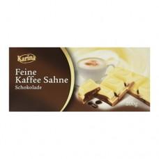 Шоколад Карина Karina Feine kaffe Sahne White Coffe 200г