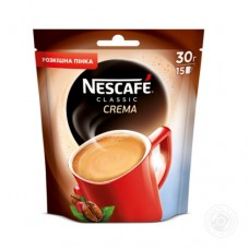 Кофе растворимый Nescafe Нескафе Классик Крем 30г пакет