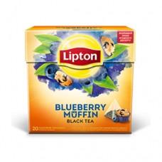 Чай Lipton Липтон Черничный кекс черный 20 пирамидок