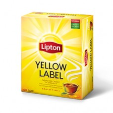 Чай Lipton Липтон черный Yellow label 100 пакетов